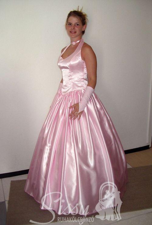 f751794e16e Rózsaszín szatén koszorúslány ruha