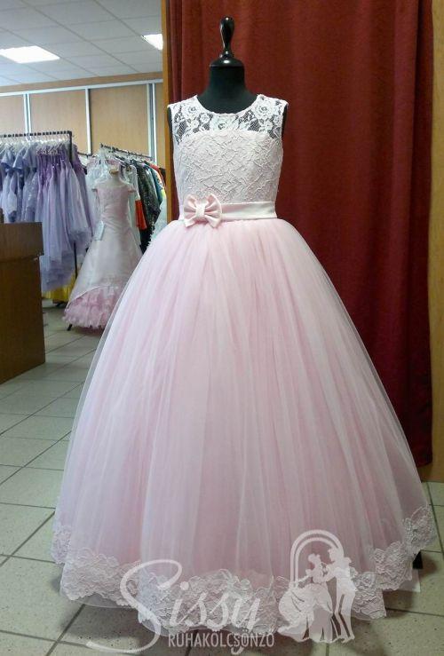 9501d67064 Rózsaszín ujjatlan tüllös koszorúslány ruha